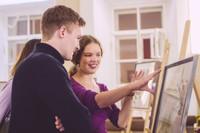 Выставка студенческих работ «Привычка рисовать»